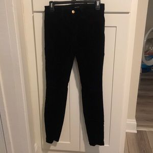 J Brand Super Skinny Jeans in Black Velvet.